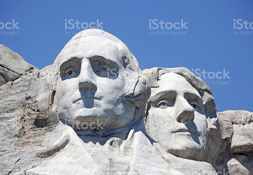 Washington and Jefferson royalty-free stock photo