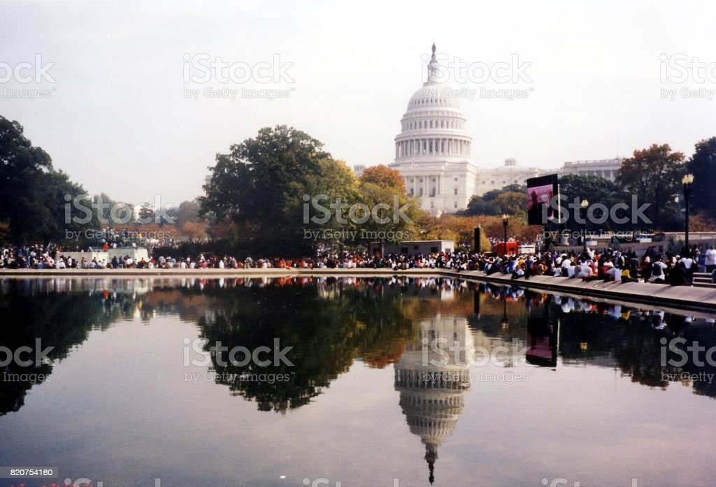 Washington Capitol The Million March October 2000 stock photo