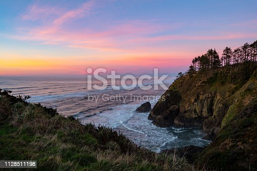 Sunset on North Head, Washington State.