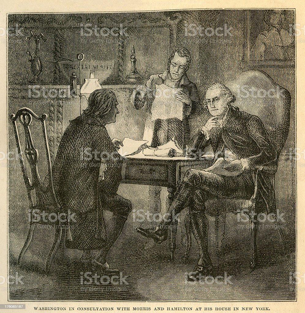 Washington Consultations Engrave stock photo