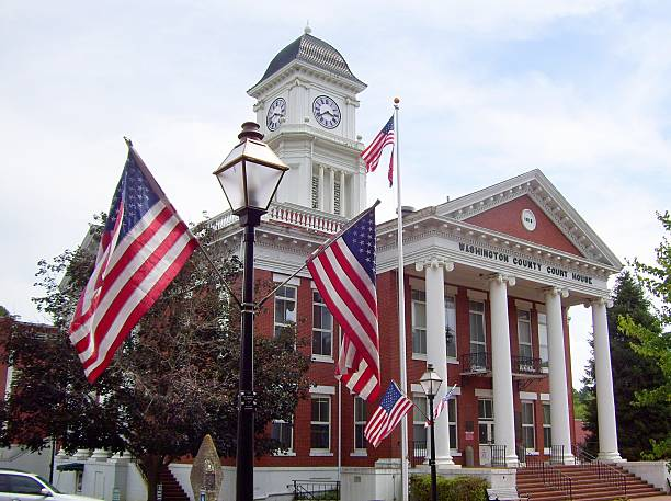 Washington County Courthouse in Jonesborough, Tennessee stock photo