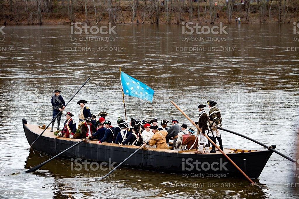 Washington Crosses the Delaware stock photo