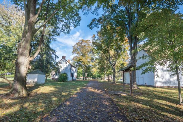 washington crossing historic park, pennsylvanie, états-unis - rivière delaware photos et images de collection