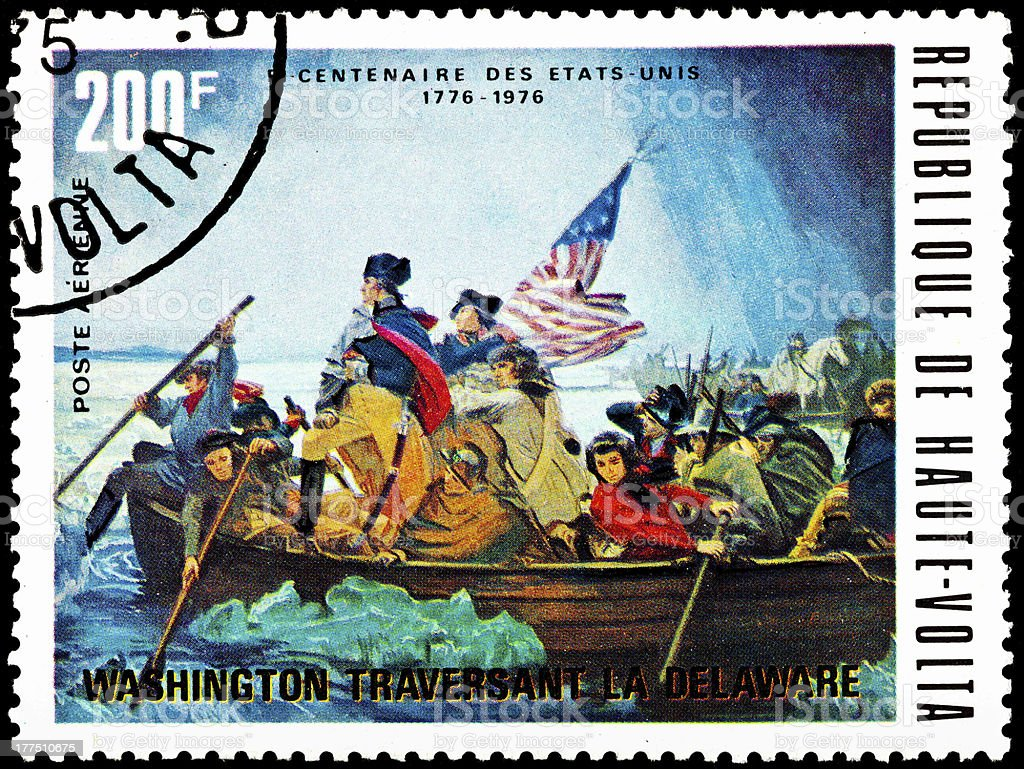 Washington Crossing the Delaware 1975 stock photo