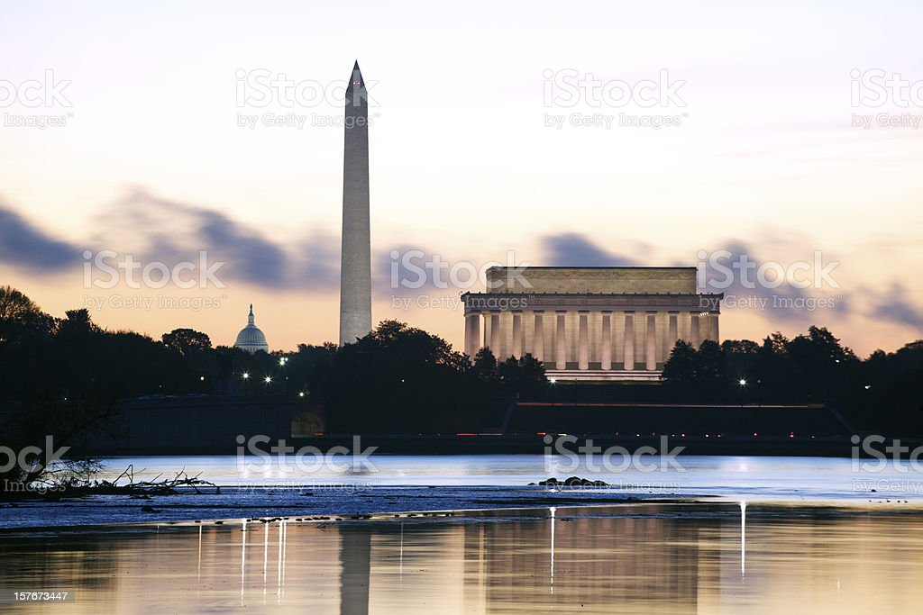 Washington DC at Dawn stock photo