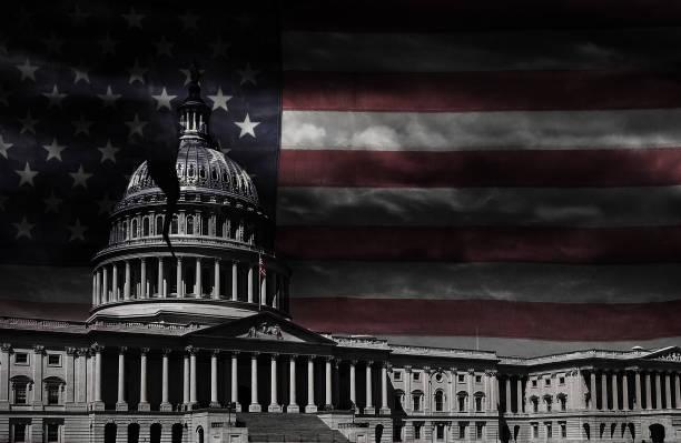 ワシントンdc議事堂がひび割れた - 腐敗 ストックフォトと画像