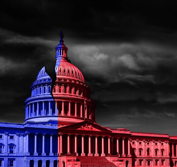 washington dc capitol divided politics - республиканская партия сша стоковые фото и изображения