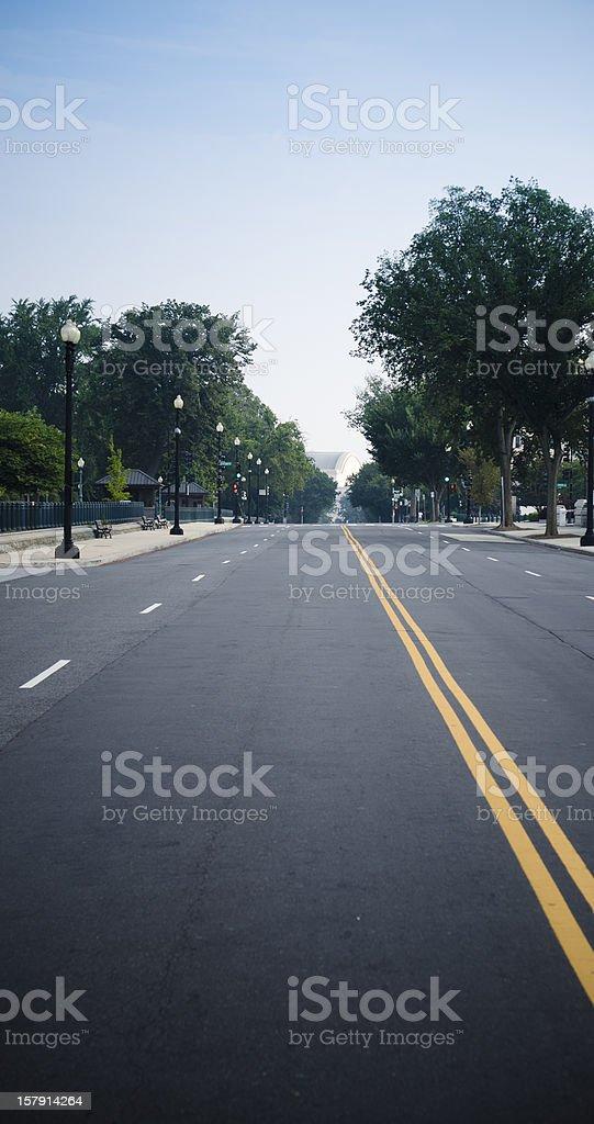Washington DC double lane road royalty-free stock photo