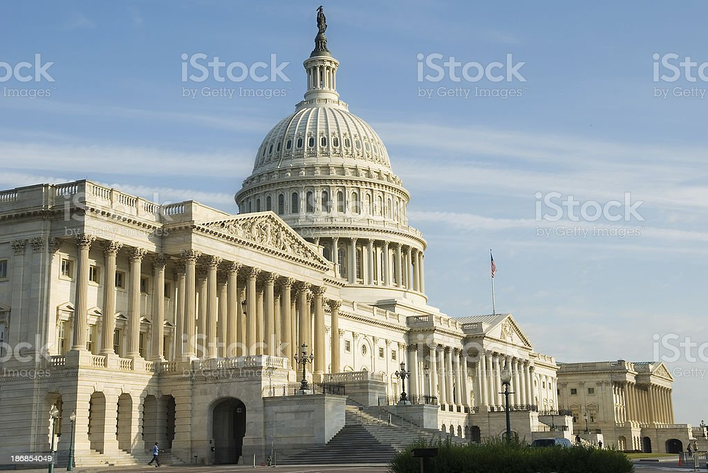 Washington DC:  facade of US Capitol building royalty-free stock photo
