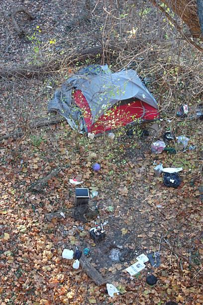 Washington D.C. Homeless Camp stock photo