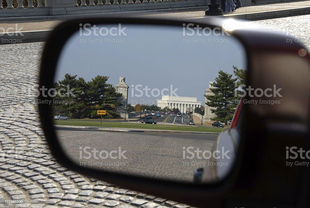 Washington DC in the Rear View Mirror stock photo