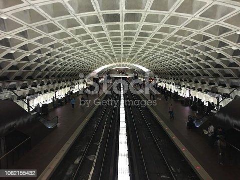 Metro station in Washington DC