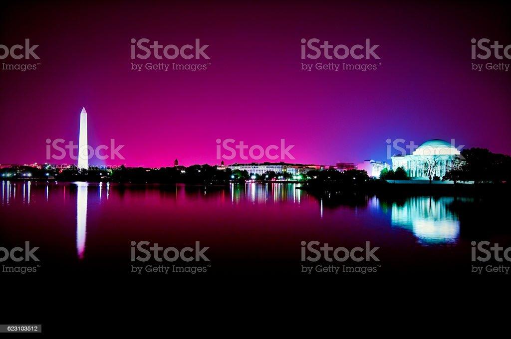 Washington DC, Monumental Reflection stock photo