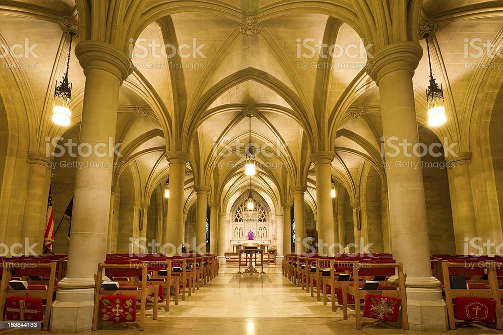 Washington DC, National Cathedral royalty-free stock photo