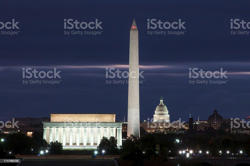 Washington DC Skyline at Dawn stock photo