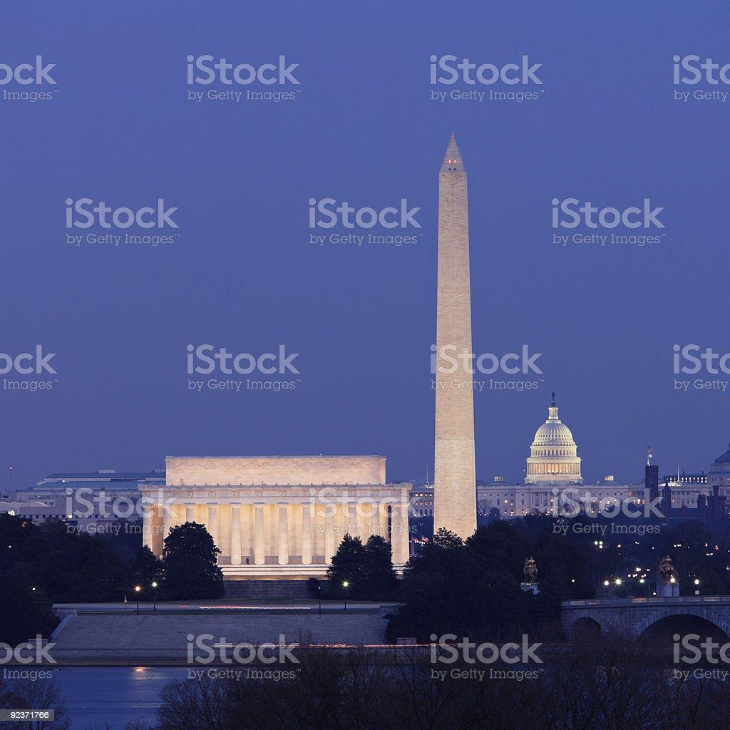 Washington, DC Skyline royalty-free stock photo