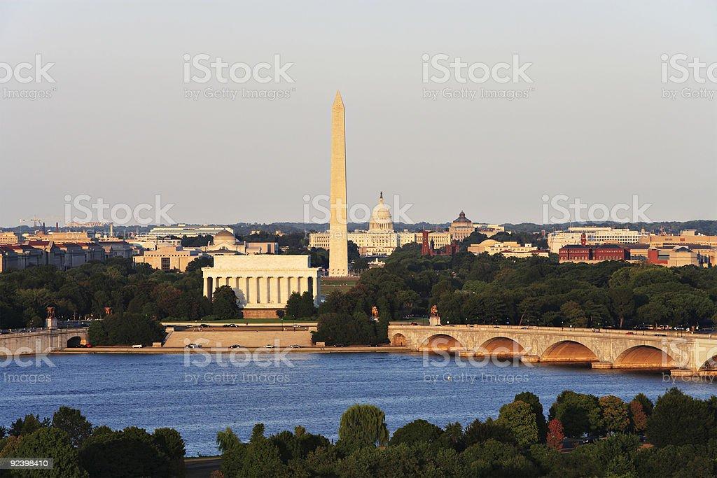 Washington DC Skyline royalty-free stock photo