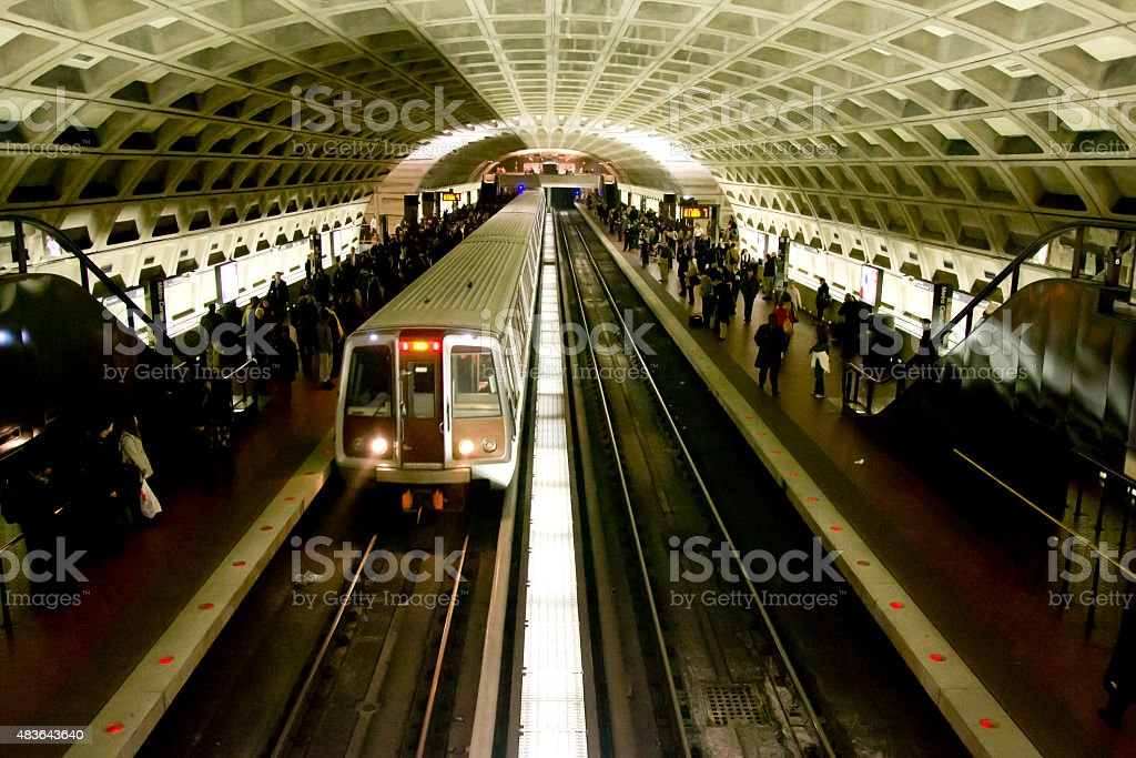Washington D.C. Subway Metro Station stock photo