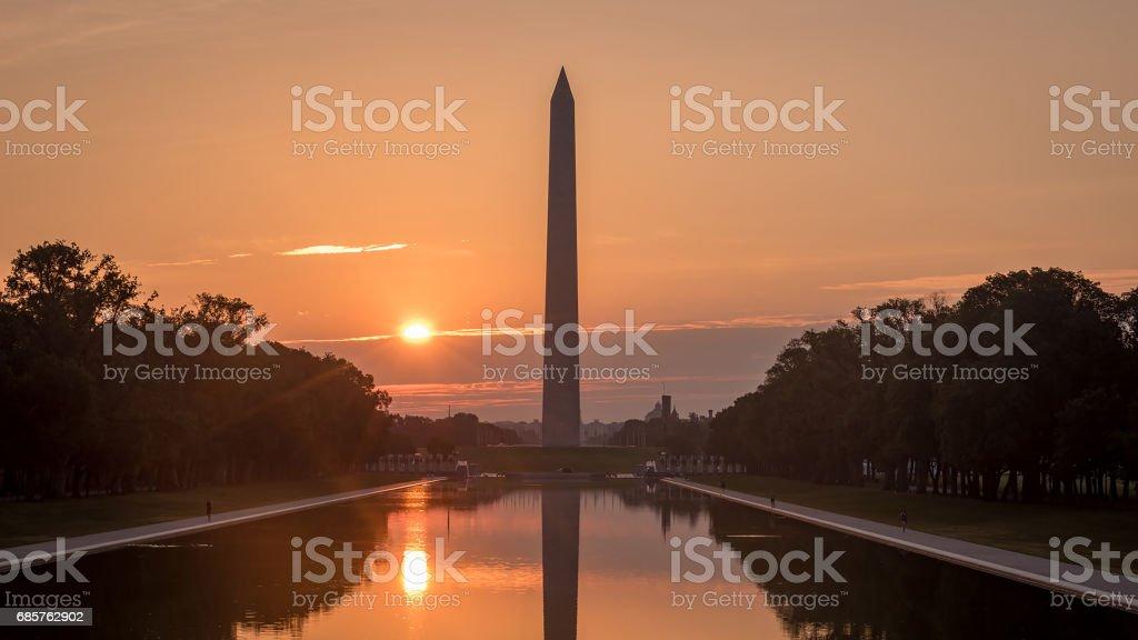 Washington DC Sunrise foto stock royalty-free