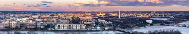 Washington DC sunset stock photo