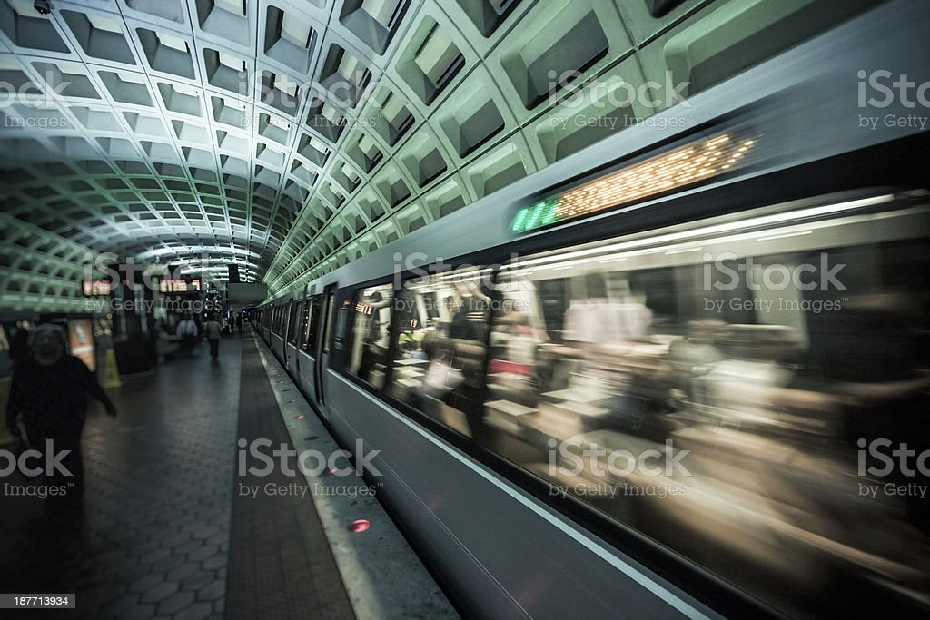 Washington DC Underground stock photo