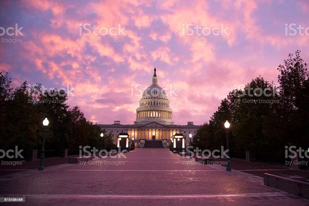 Washington DC - United States Capitol Building stock photo
