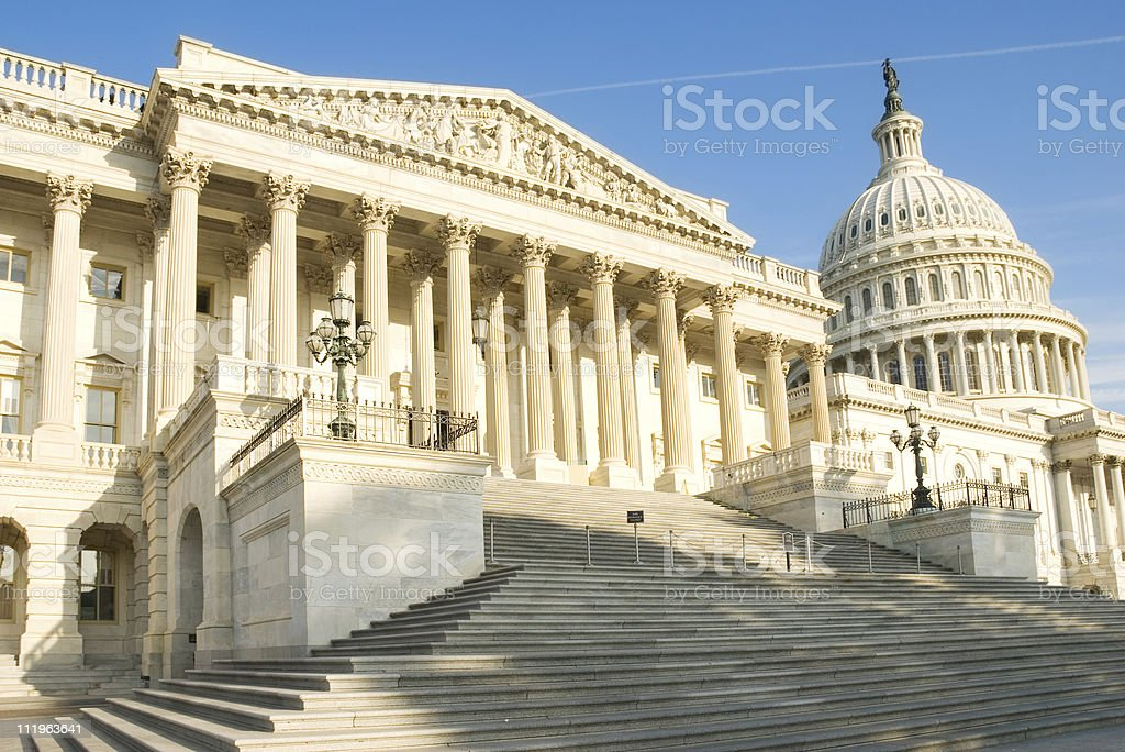 Washington DC:  US Capitol building with house of representatives royalty-free stock photo