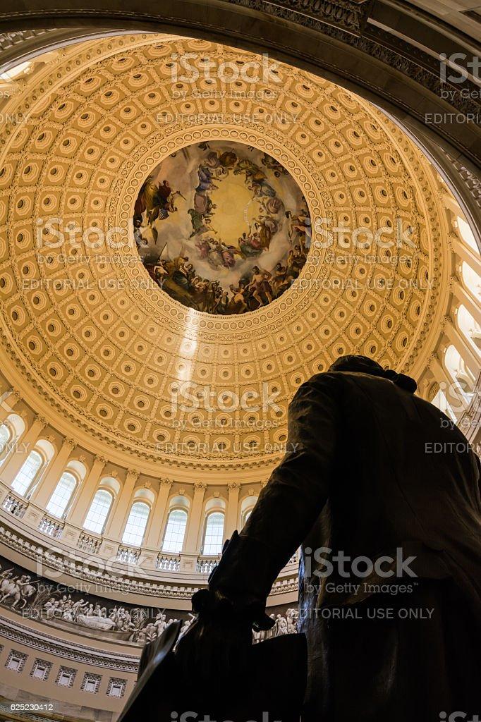 Washington DC US Capitol Rotunda Apotheosis Detail Architecture stock photo