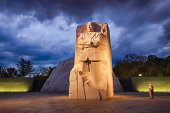 Washington, DC, USA - October 10, 2012: Memorial to Dr. Martin Luther King. The memorial is America's 395th national park.