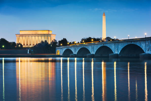 Washington DC, USA Skyline on the River stock photo