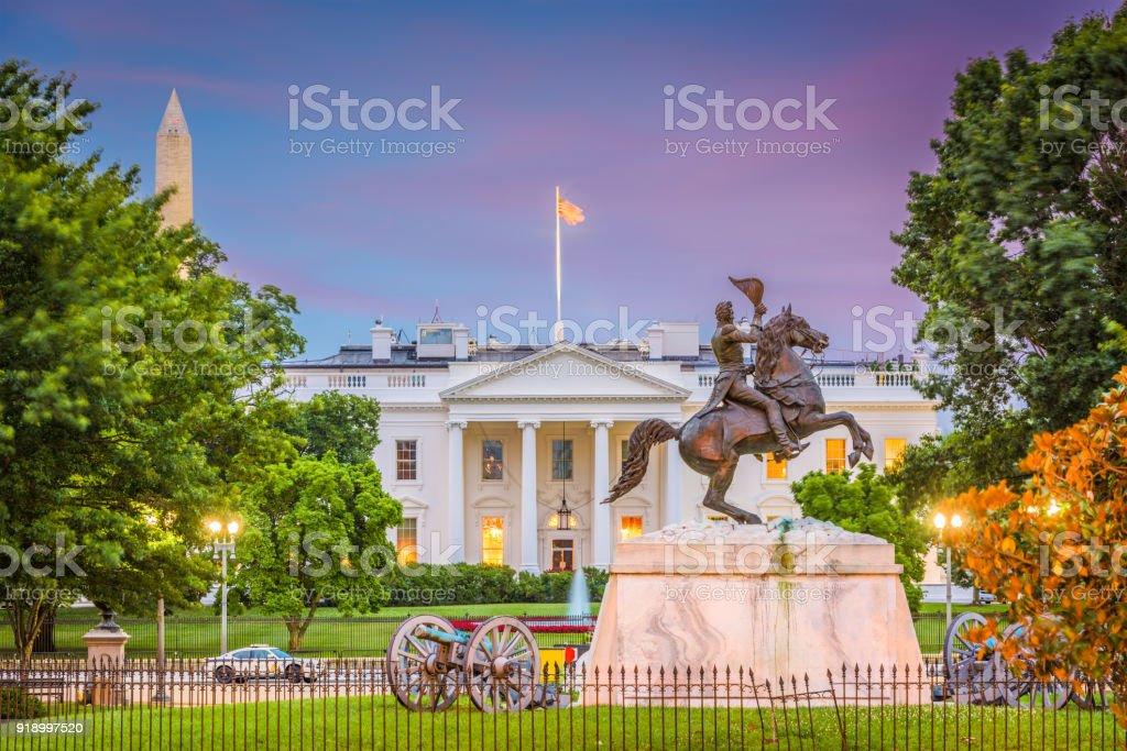 Washington DC White House stock photo