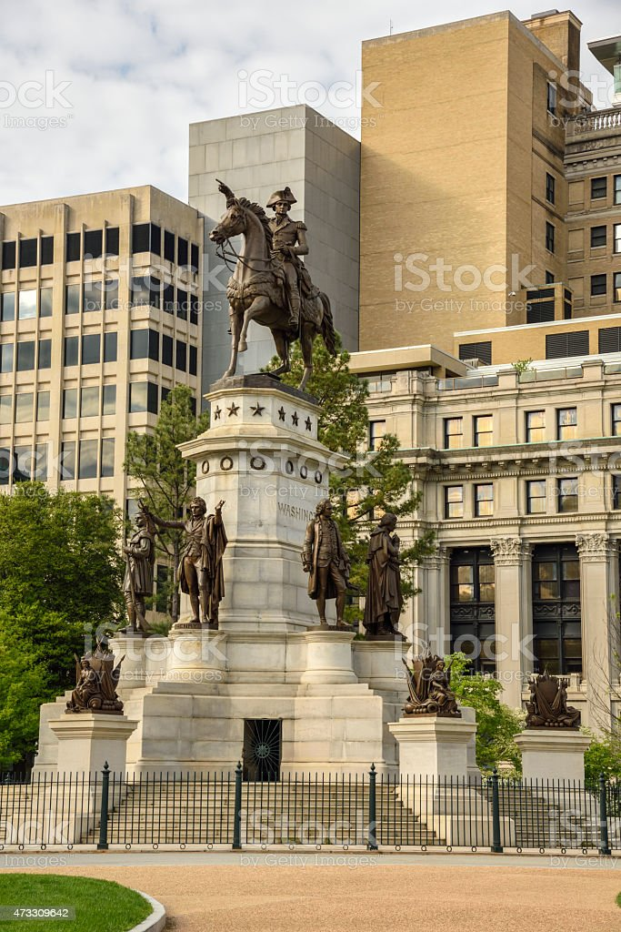 Washington Equestrian Monument stock photo
