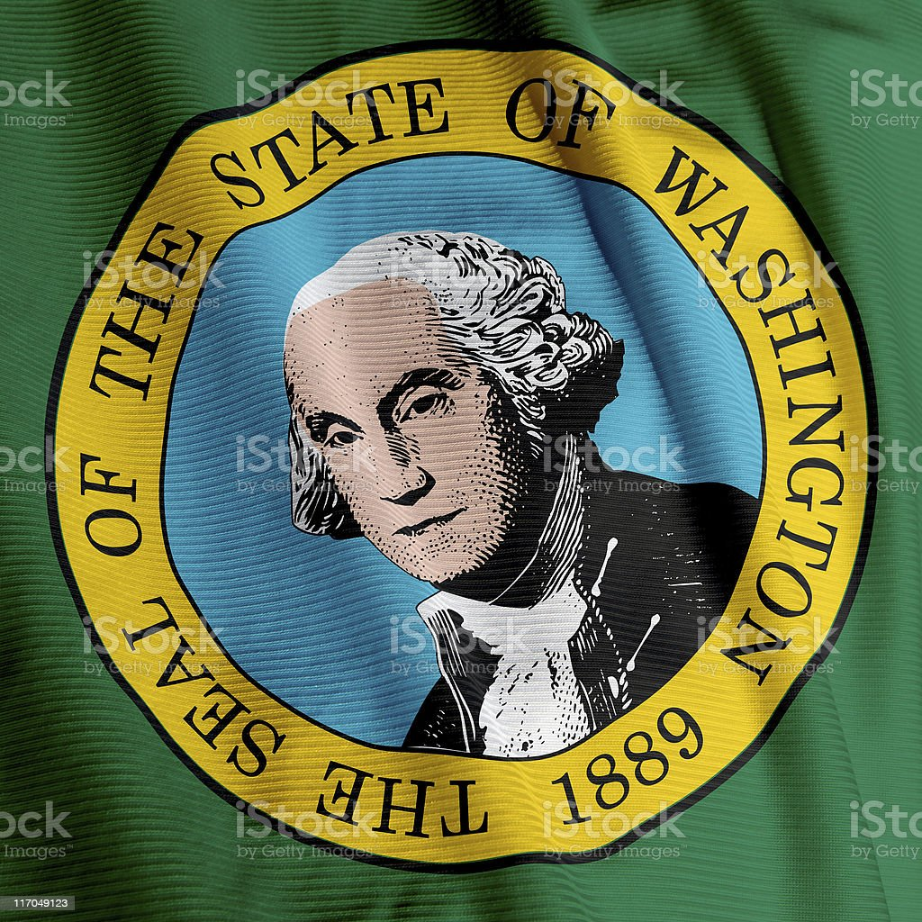 Washington Flag Closeup royalty-free stock photo