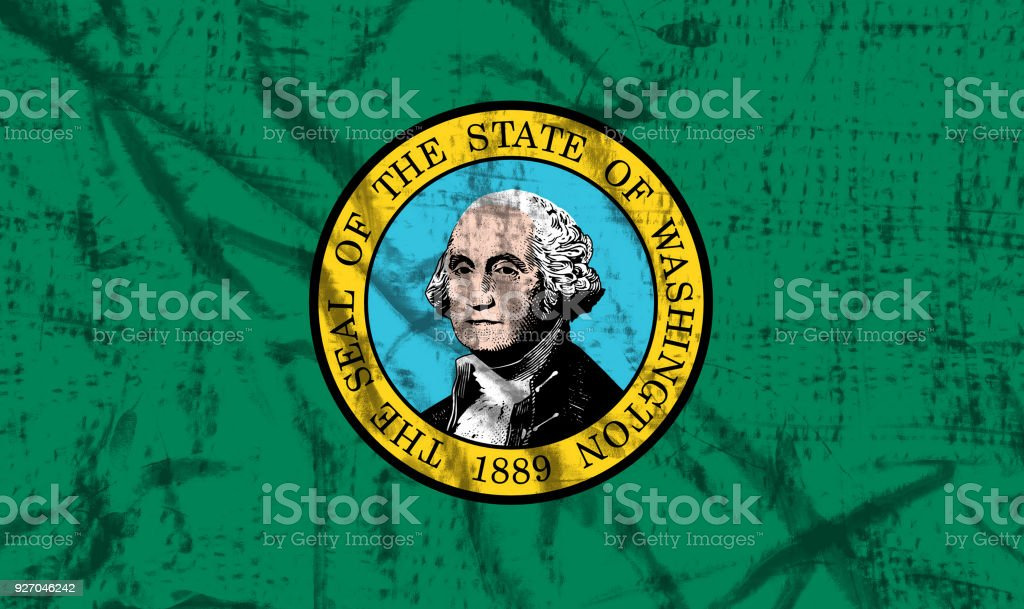 Washington flag stock photo