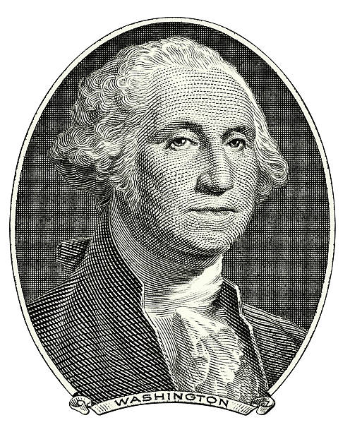 washington george portrait cutout - etching stock pictures, royalty-free photos & images