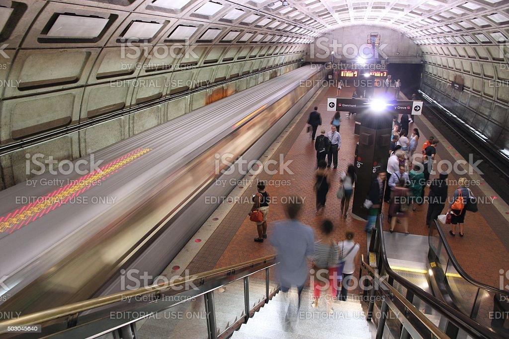 Washington Metro stock photo