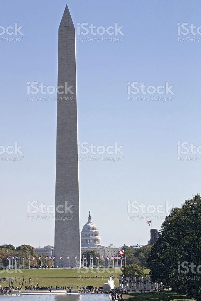 Washington Monument And The Capitol royalty-free stock photo