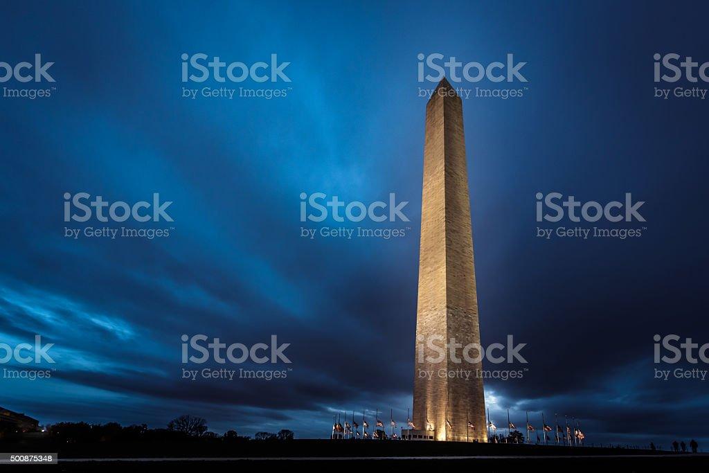 Washington Monument, de nuit - Photo