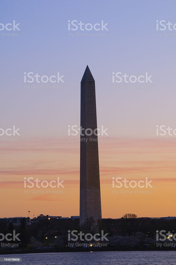 Washington Monument at Sunrise royalty-free stock photo