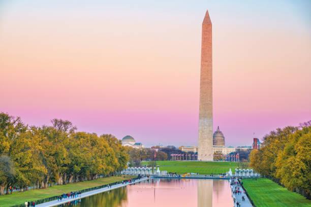 washington monument, usa - luogo d'interesse nazionale foto e immagini stock