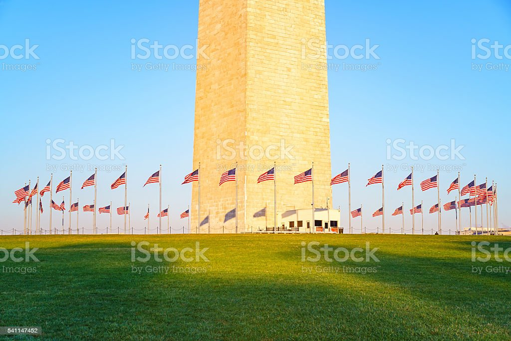 Washington Monument, USA stock photo