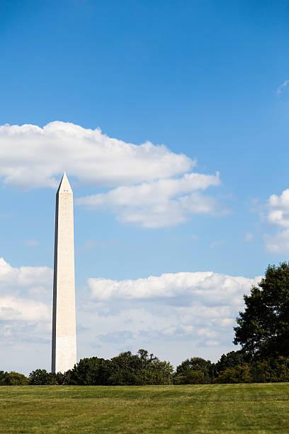 Washington Monument with Copy Space stock photo