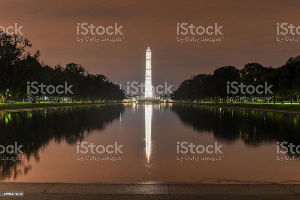 Washington Monument mit Gerüst - Lizenzfrei Alt Stock-Foto