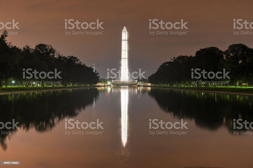 Washington Monument with Scaffolding - Royalty-free Accidents and Disasters Stock Photo