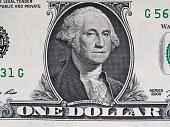istock Washington on 1 dollar note, United States 836105678