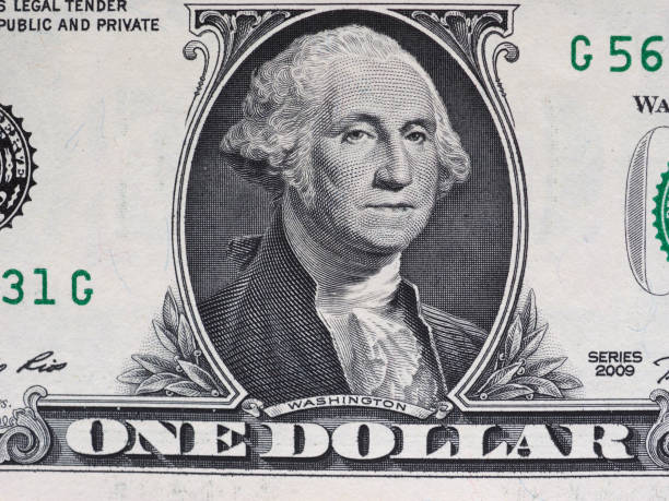 washington on 1 dollar note, united states - dollar bill stock pictures, royalty-free photos & images