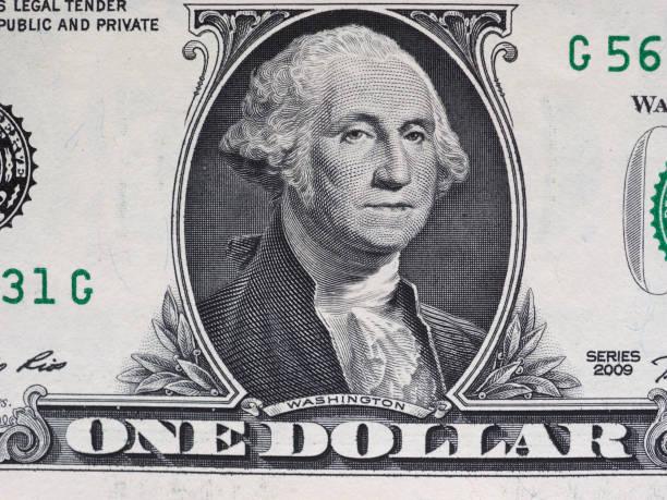 Washington numa nota de 1 dólar, Estados Unidos - foto de acervo