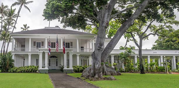 washington place, honolulu hawaii - historycyzm zdjęcia i obrazy z banku zdjęć