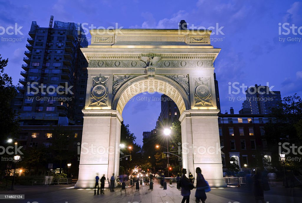 Washington Square Arch at Greenwich Village in New York City royalty-free stock photo