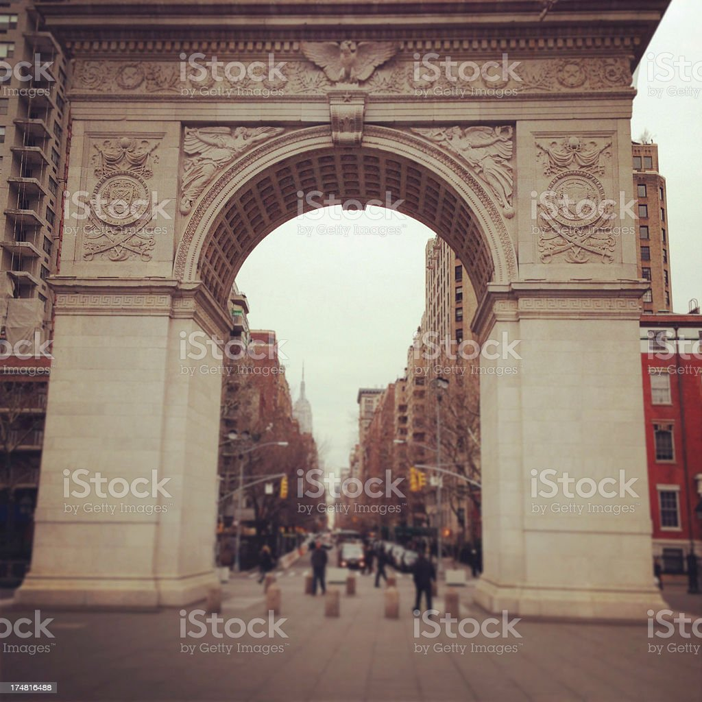 Washington Square Arch in New York City royalty-free stock photo